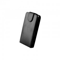 Husa Flip Premium pentru Sony Xperia Sp, piele ecologica, negru