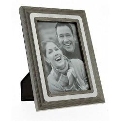 Rama foto de birou, insertie metalica, fotografie 10x15, vintage