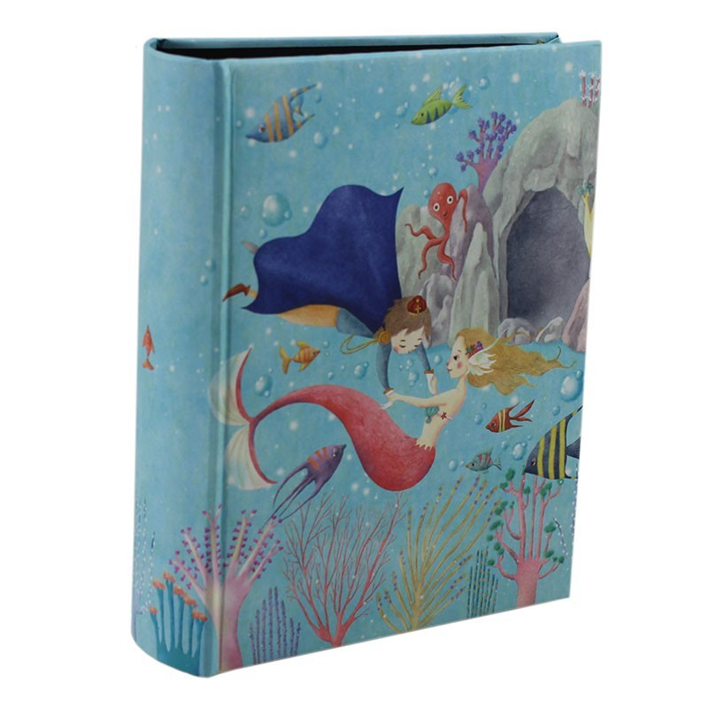 Album foto Ariel, 100 poze 10x15 cm, buzunare slip in, file negre, albastru