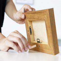 Rama foto Magic, cadru magnetic, hartie 12.7x17.8 cm, birou/perete, lemn