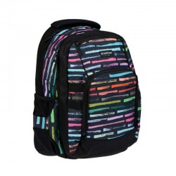 Ghiozdan compartiment laptop, Art Stripes, 46,5x33,5x25 cm, Starpak