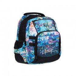 Ghiozdan Graffiti, compartiment laptop, 46,5x33,5x25 cm, Starpak