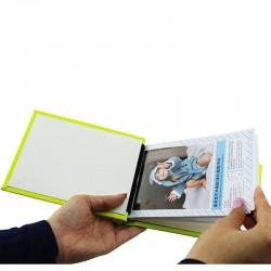 Album FotoCarte 10x15, hartie foto inclusa, personalizabil, piele eco, Magic Green