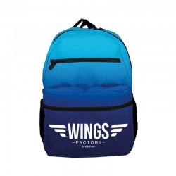 Ghiozdan Blue Wings, generala, liceu, 3 compartimente, inchidere fermoar, Starpak
