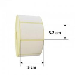 Rola etichete autoadezive termice, 50x32 mm, 1170 etichete/rola