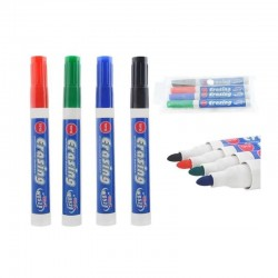 Marker tabla magnetica, varf rotund, grosime scriere 2.8 mm, set 4 culori