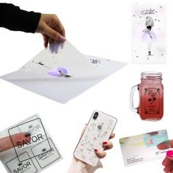 Folie adeziva transparenta printabila inkjet, A4, 20 coli, Procart