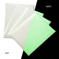 Hartie fosforescenta pentru transfer termic textile albe, printabila inkjet, A4