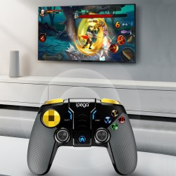 Gamepad wireless, Android, iOS, Windows, raza actiune 8 metri, TURBO, suport telefon