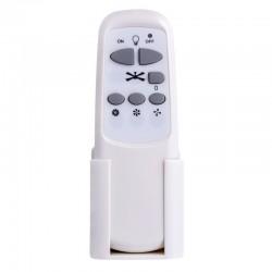 Ventilator Cordula cu lustra, soclu E14, 40W, 3 trepte viteza, IP20, telecomanda