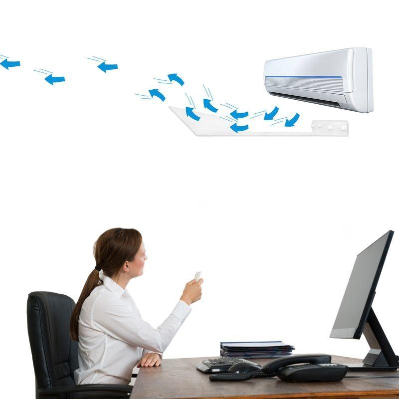 Deflector flux aer conditionat, fixare perete