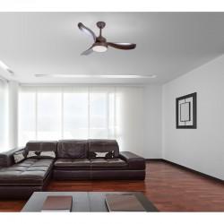 Ventilator cu lustra, LED 18W, 1800 lm, telecomanda, IP20, fixare tavan, Ramona Globo