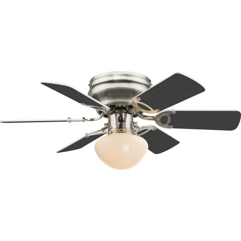 Ventilator cu lustra, fixare tavan, E27, 60W, 3 trepte viteza, UGO Globo