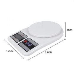 Cantar de bucatarie, afisaj LCD, functie tara, capacitate maxima 7 kg, alb