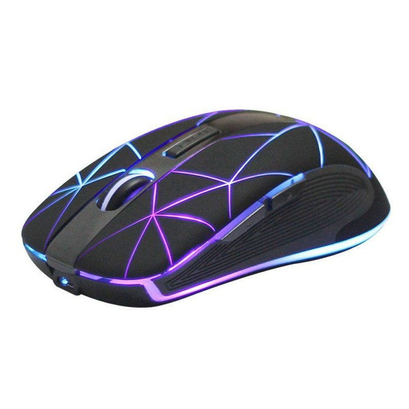 Mouse optic Wireless 2.4GHz, iluminat LED, USB, 1600 DPI, raza actiune 10 m, Rii