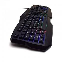 Tastatura si mouse gaming, iluminare multicolora, USB, 104 taste, Rii