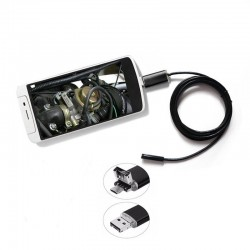 Camera endoscop foto/video, Android, rezolutie 1600X1200, IP 67, 6 LED-uri