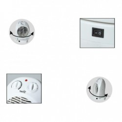 Aeroterma de podea, putere 1000W/2000W, oscilare 90 grade, termostat