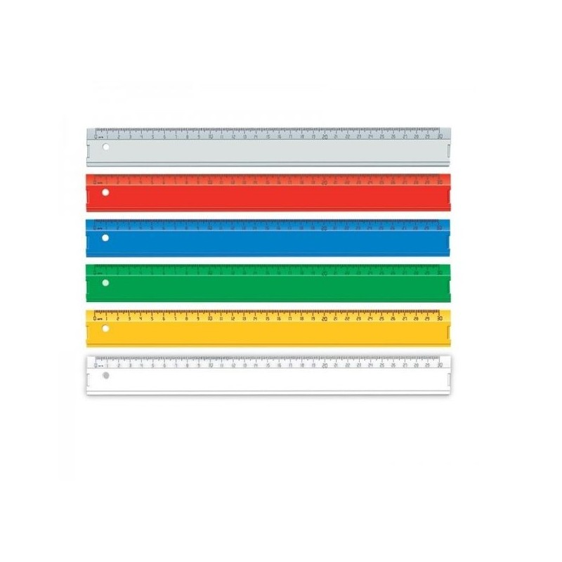 Rigla transparenta 30 cm, material plastic, scoala, Ark
