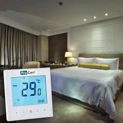 Termostat ambiental, camera si incalzire prin pardoseala, touchscreen, programabil, BHT-1000