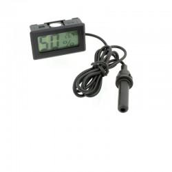 Termometru cu sonda, umiditate, temperatura, afisaj LCD, negru