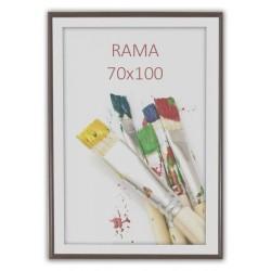 Rama foto Painting, format 70x100 cm, fixare perete, maro inchis