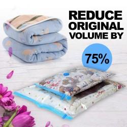 Sac pentru vidat haine, reutilizabil, calatorie, 70x100 cm, transparent