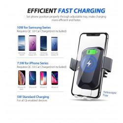 Incarcator auto Wireless Qi, suport telefon 4-6 inch, 360 grade, incarcare rapida