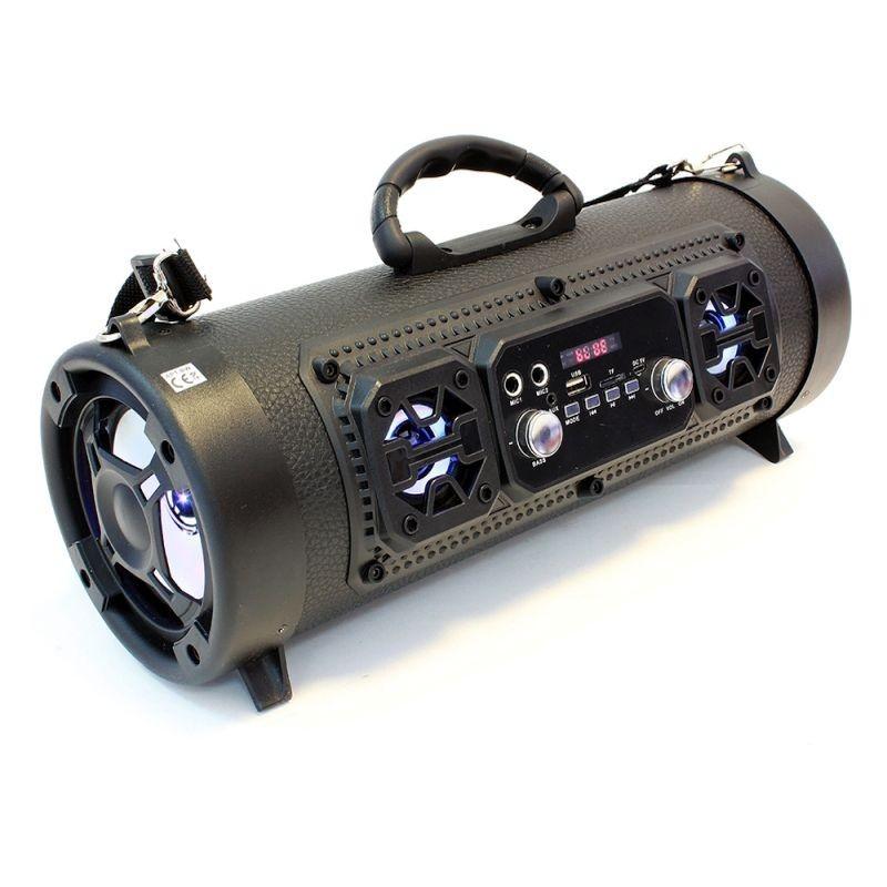 Boxa Bluetooth portabila, 16W, slot microfon, LED, FM, USB TF, 85dB, tip geanta