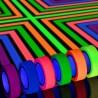 Banda adeziva neon, rola 25m, textil, latime 2.5 cm, reutilizabila