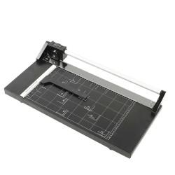 Trimmer manual profesional A4, ghilotina ghidaj magnetic, hartie si carduri, 36 mm