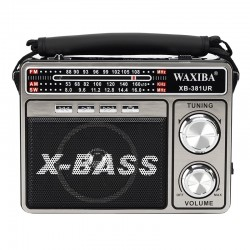 Radio portabil cu lanterna, USB, TF SD, MP3, antena telescopica, AM FM, retro