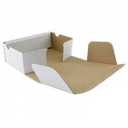 Cutie carton cu autoformare 100x100x60 mm, carton microondul E alb, FEFCO 0426