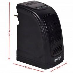 Mini radiator 400W, incaperi 23mp, timer, termostat, afisaj LED, negru