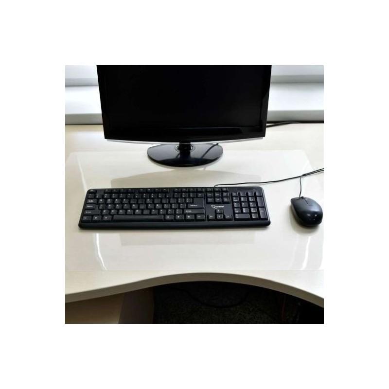 Protectie birou transparenta, antialunecare, grosime 0.5 mm, 100x50 cm, Resigilat
