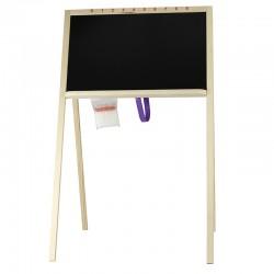 Tabla scolara pentru creta, 2 fete scriere, 90x47 cm, cu suport lemn
