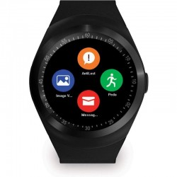 Smartwatch Bluetooth, microSIM, TF, 11 functii, Android, display 1.3 inch HD