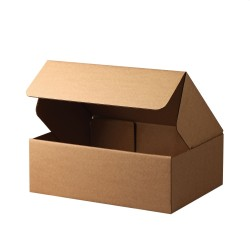 Cutii carton personalizate cu autoformare, ondula C 3 straturi natur, FEFCO 0427
