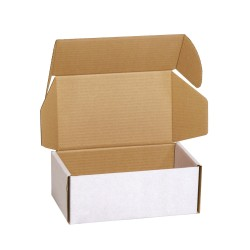 Cutii carton personalizate cu autoformare, microondul E alb, tip FEFCO 0426