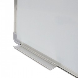 Tabla alba magnetica, 90x120 cm, rama de aluminiu, fixare perete