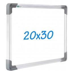 Tablita alba pentru scris, 30x20cm, sistem prindere, rama aluminiu