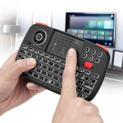 Mini tastatura Bluetooth iluminata, receiver USB, touchpad, unique scroll, RII I4
