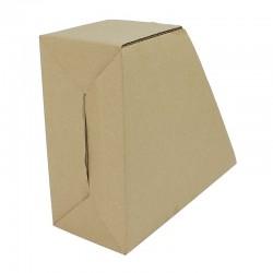 Suport vertical pentru documente, carton maro, 30x25x11.5 cm