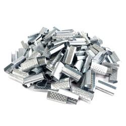 Cleme metalice pentru banda PP 12mm, suprafata embosata, set 2000 bucati