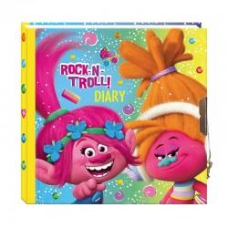 Agenda pentru copii Trolls, tip jurnal, inchidere lacat, 13.5x13.5 cm, multicolor