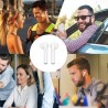 Casti Bluetooth pentru iPhone si Android, Touch Control, stand incarcare, USB, raza 10m