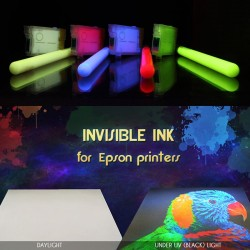 Set 6 culori cerneala invizibila pentru imprimante Epson