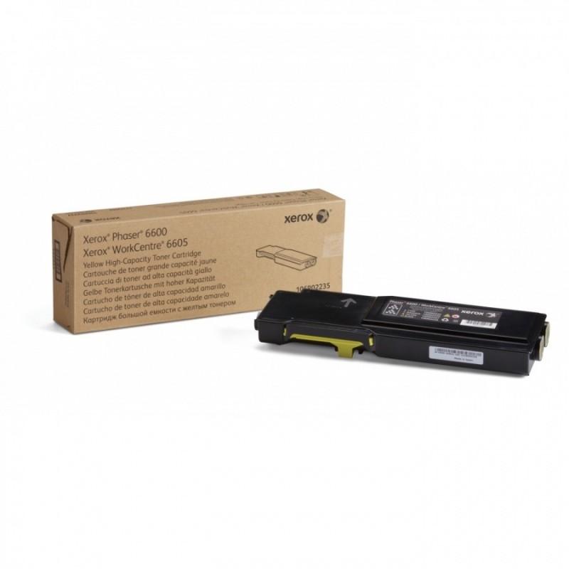 Toner Xerox 106R02235 yellow original pentru Xerox 6600 6605 de capacitate mare