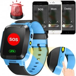 Smartwatch GPS copii, Android/IOS. GPS sim, handsfree, lanterna, camera foto Resigilat