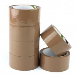 Banda adeziva maro, Eco solvent, dimensiuni rola 48mmx60m, set 6 bucati